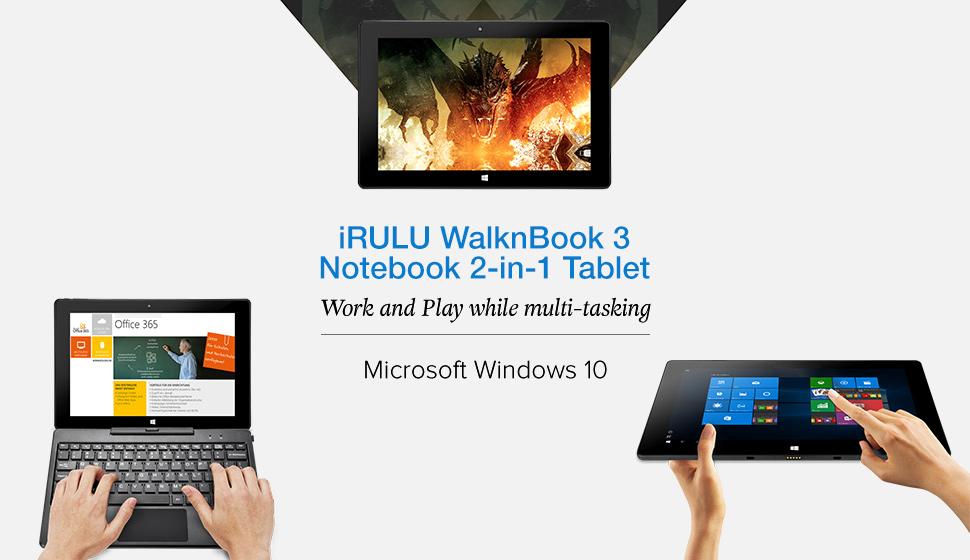 Exceptionnel Amazon.com : iRULU WalknBook 3 10.1 Inch Notebook, Hybrid 2 in 1  EL74