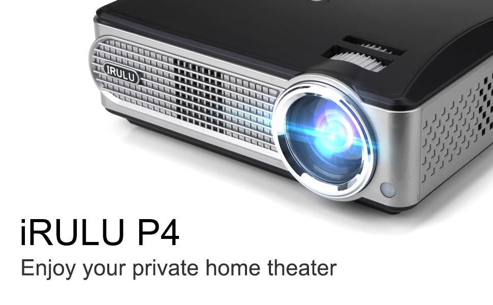 Video projector irulu p4 led hd projector for Compact hd projector