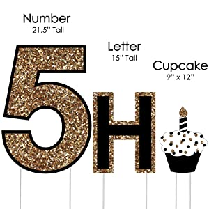 Amazoncom adult 50th birthday gold yard sign for Happy birthday yard letters
