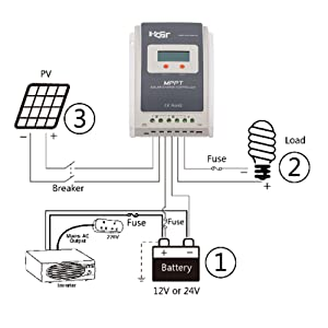 how to connect positive grounded charge controller