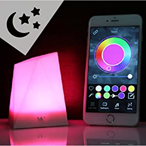 cool mood lighting. notti is a beautifully designed smart light that uses high powered 16 million color leds so you can find any to match your mood and add splash of cool lighting
