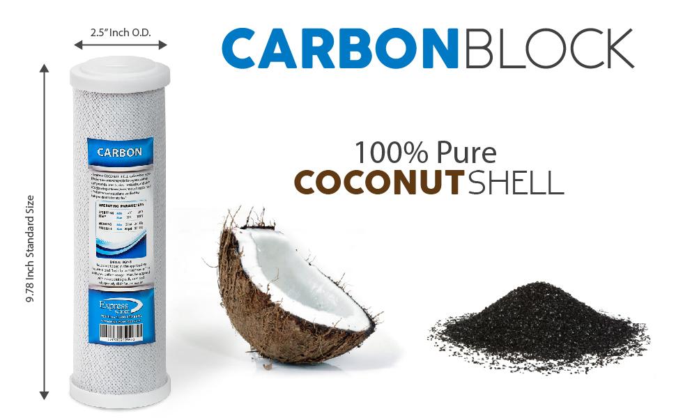 Amazon Com Express Water 10 Quot Carbon Block Coconut Shell
