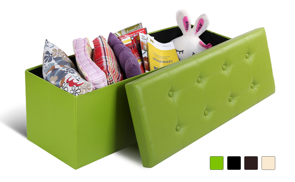 This SONGMICS storage ottoman is a simple but practical way to declutter  your home and utilize your home space. You may