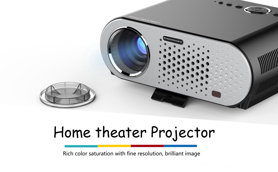 Video projector protable cibest lcd projector hd 1080p for Hd projector amazon