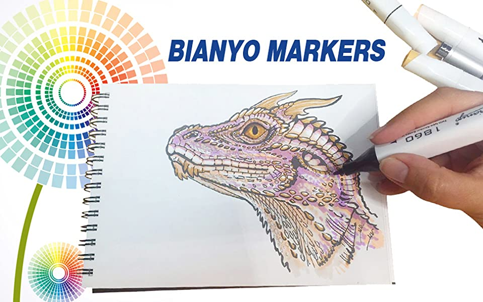 Permanent Sketch Book: Amazon.com: Bianyo Dual Tip Art Markers,Fine And Chisel