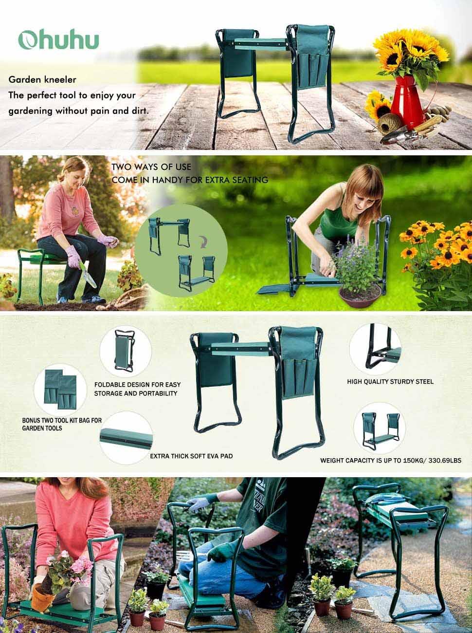 Amazon.com : Ohuhu Garden Kneeler and Seat with Bonus Tool