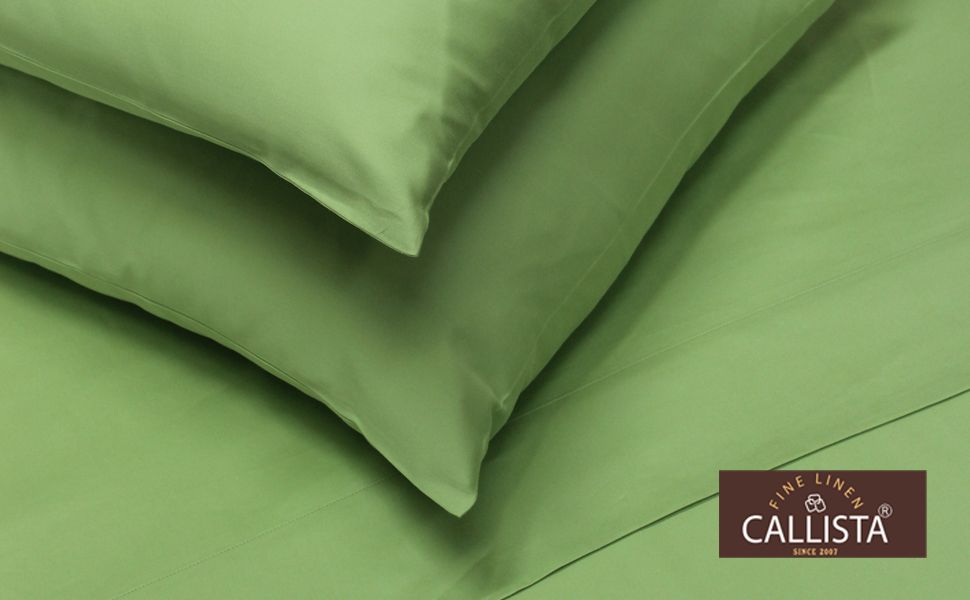 Luxury Bedding-Bestseller- Super Sale 100% Cotton, Full Sage by Callista Fine Linen