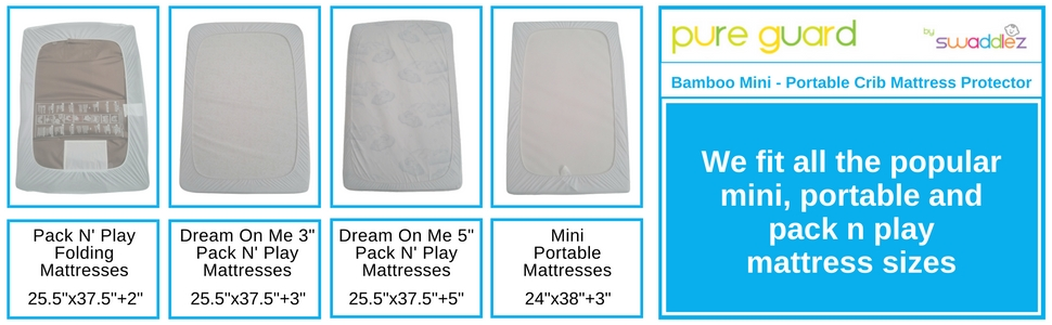 BAMBOO Pack N Play / Mini / Portable Crib Mattress Pad - Amazon.com : Pack N Play Crib Mattress Pad Cover Fits Pack And