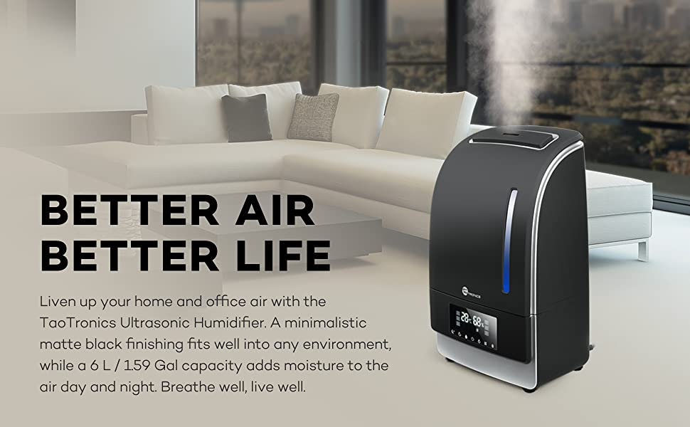 Warm Cool Mist Humidifier Taotronics Ultrasonic Air Humidifiers Bedroom Ebay