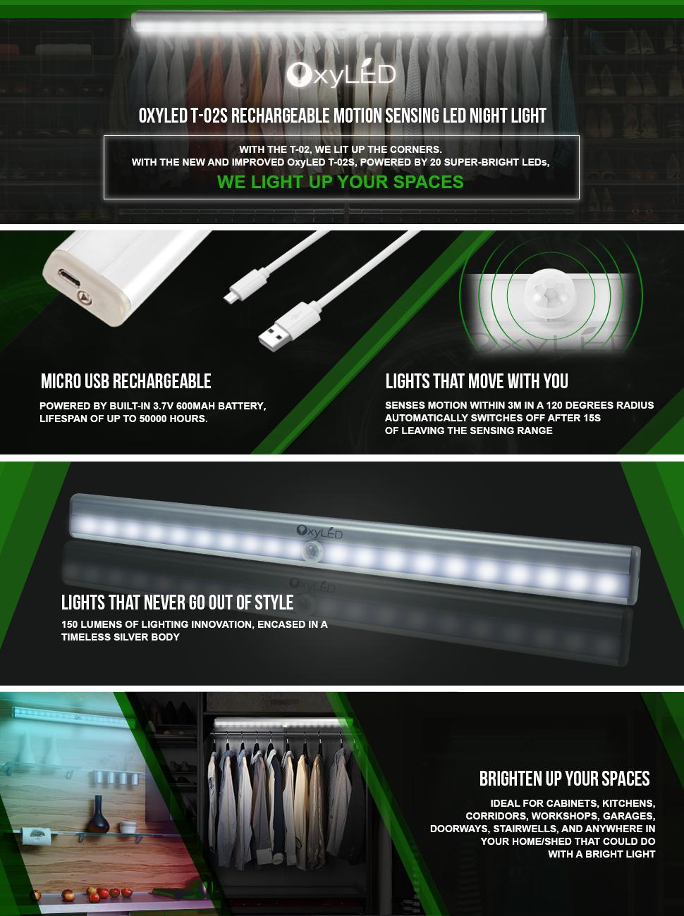 OxyLED Motion Sensor Closet Lights, Cabinet Light, DIY ...