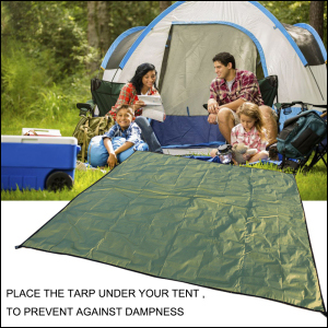 The tarp can be used for various purposes. Place it under your tent to prevent from d&ness. Take it to a picnic or beach and relax in ... & Amazon.com : JTENG Outdoor Waterproof Camping Shelter Tent Tarp ...