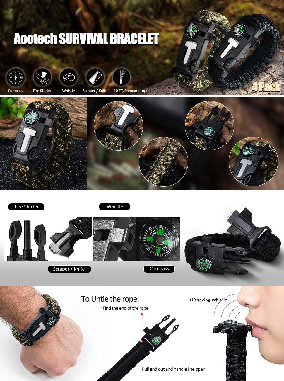 The Best Aootech Paracord Bracelet Your Ultimate Survival Tool !