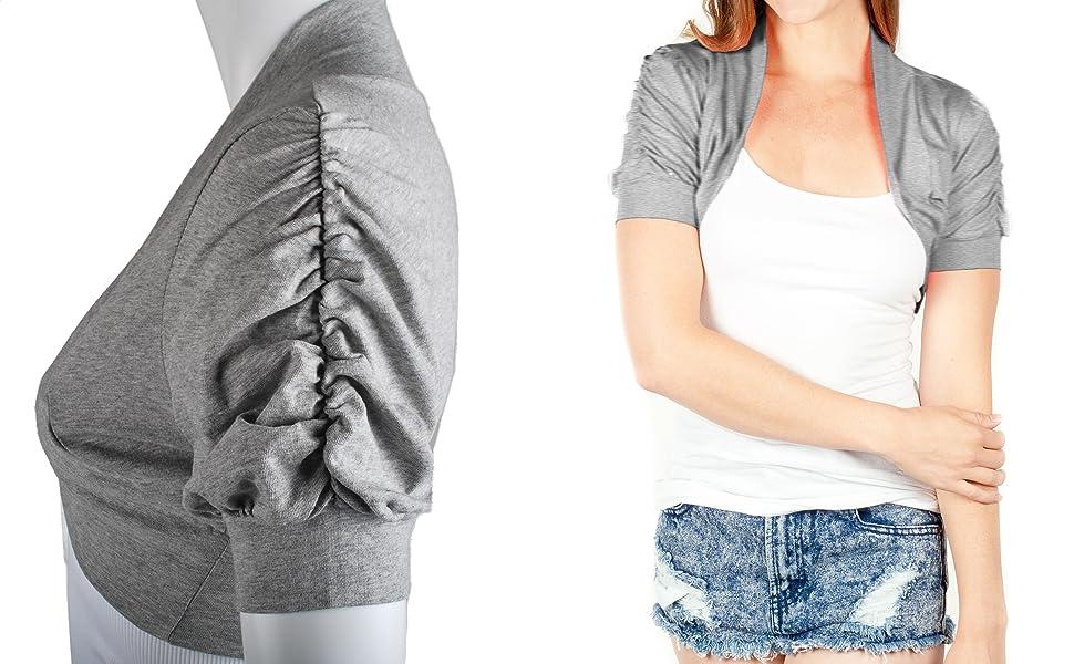 TL Women's Essential Comfy Versatile Bolero Shrug Cardigans in Junior