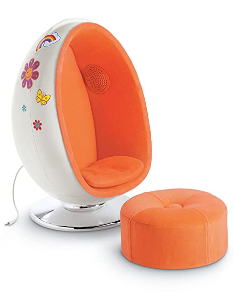 Amazon Com American Girl Julie S Egg Chair Set Toys Amp Games