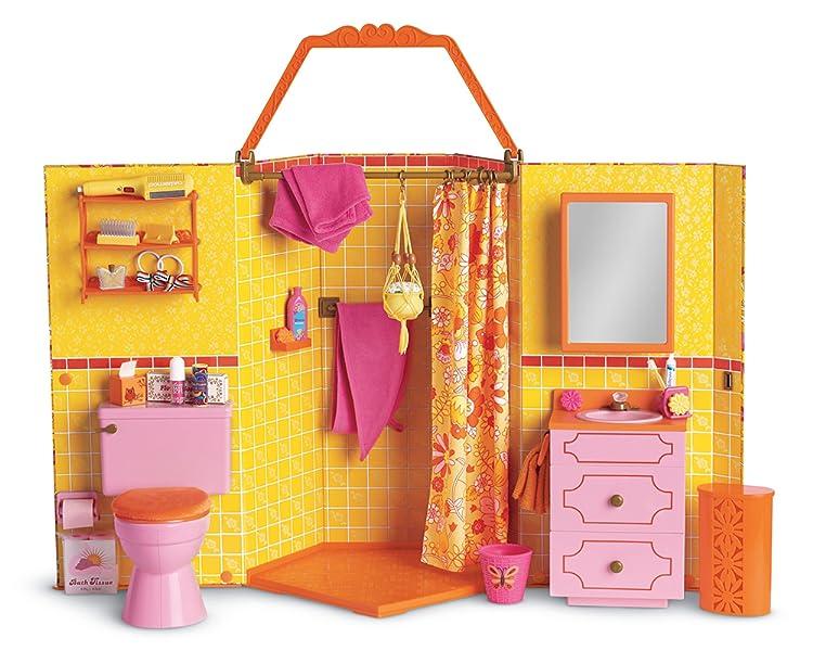 American Girl Julie s Groovy Bathroom. Amazon com  American Girl Julie s Groovy Bathroom  Toys   Games