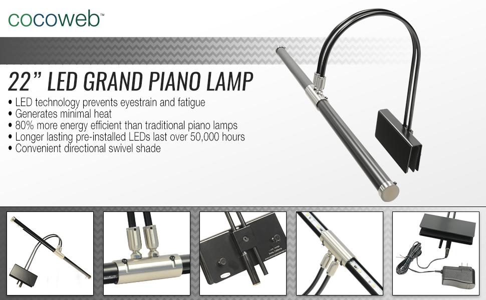 Cocoweb grand piano adjustable lights with bi rotational for Piccoli piani energetici efficienti
