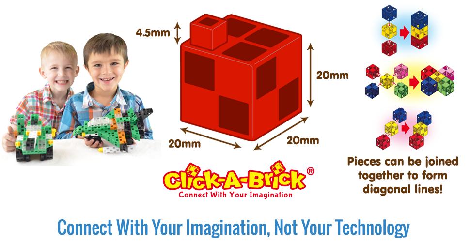 Amazon.com: Click-A-Brick Army Defenders 100pc Educational Toys ...