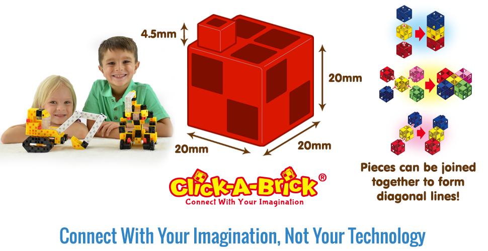 Amazon.com: Click-A-Brick Mighty Machines 100pc Educational Toys ...