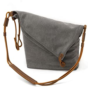 Amazon.com: FXTXYMX Hobo Bags Canvas Leather Handbag Totes ...