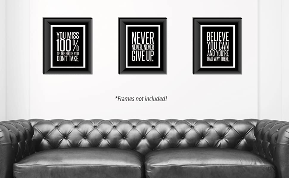 Amazoncom Motivational Inspirational Famous Quotes Wall Art