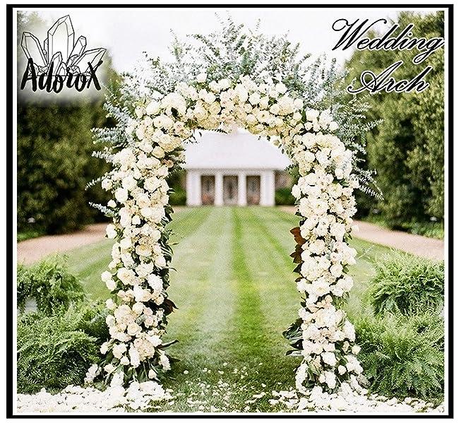 Outdoor Wedding Arch Decorations: Amazon.com : Adorox 7.5 Ft White Metal Arch Wedding Garden