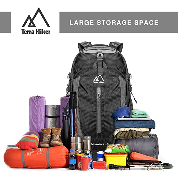 Amazon.com : Terra Hiker 35-40 L Hiking Backpack, High Capacity ...
