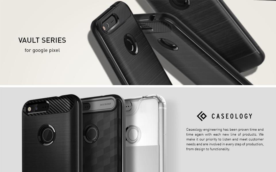 caseology vault series google pixel case matte black only from