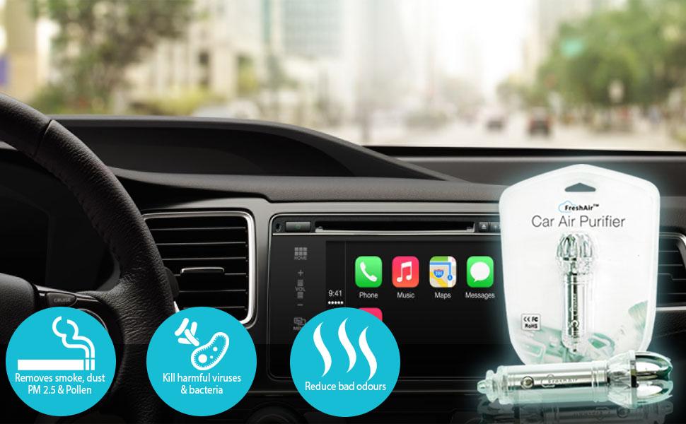 car air purifier ionizer car air freshener ionic air purifier air cleaner. Black Bedroom Furniture Sets. Home Design Ideas