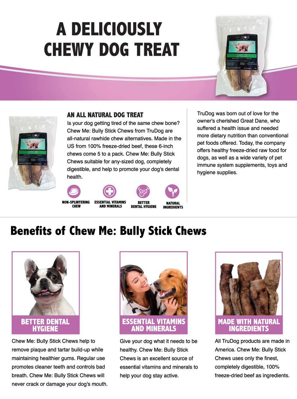 all natural bully sticks for dogs chew me. Black Bedroom Furniture Sets. Home Design Ideas