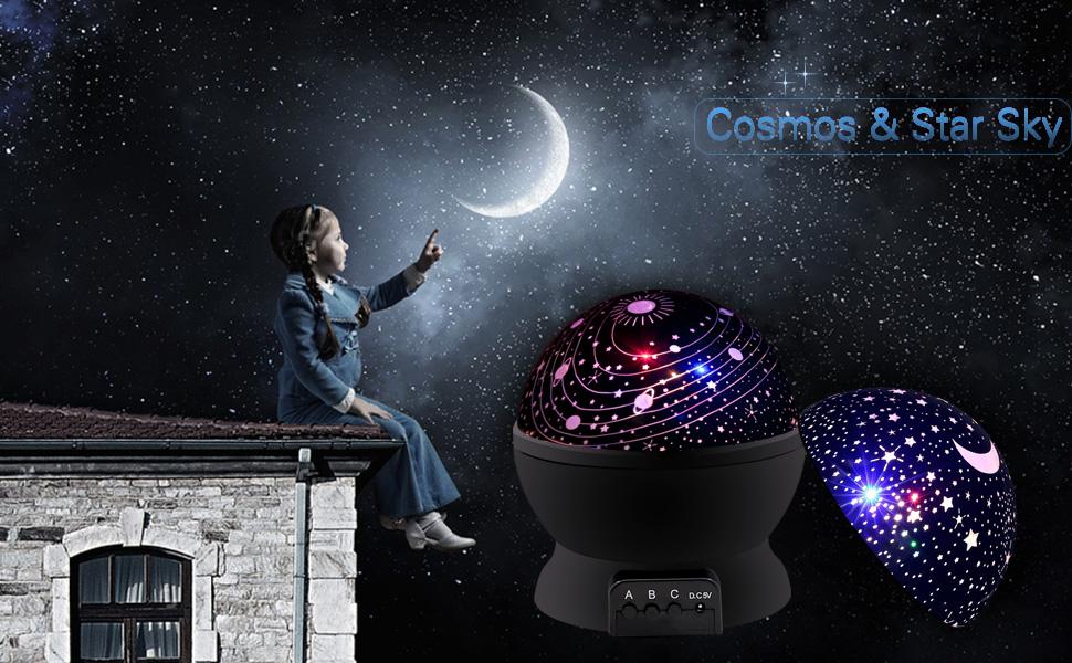 Amazon Com Night Light Kids Lamp Romantic Rotating Sky