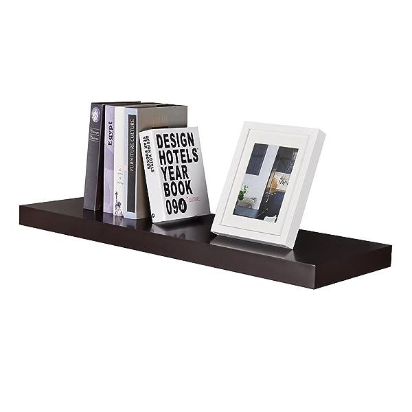 Espresso wall shelf, floating wall shelf