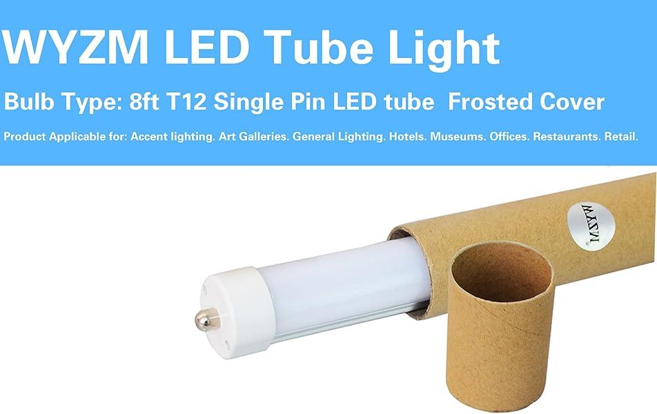 50 Pack Single Pin 40w 8ft F96t12 T8 Led Tube Light 90w