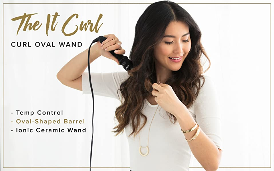 Amazon Com Xtava It Curl Wand Professional Clipless