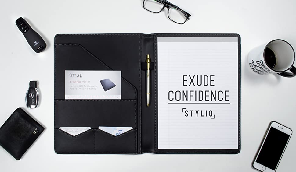 amazon com   stylio padfolio   resume portfolio folder