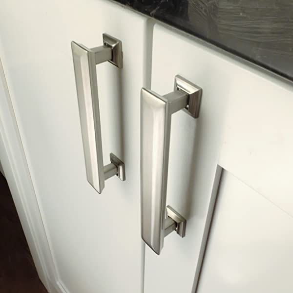 Southern Hills Brushed Nickel Drawer Pulls - 4 Inch Screw Spacing ...