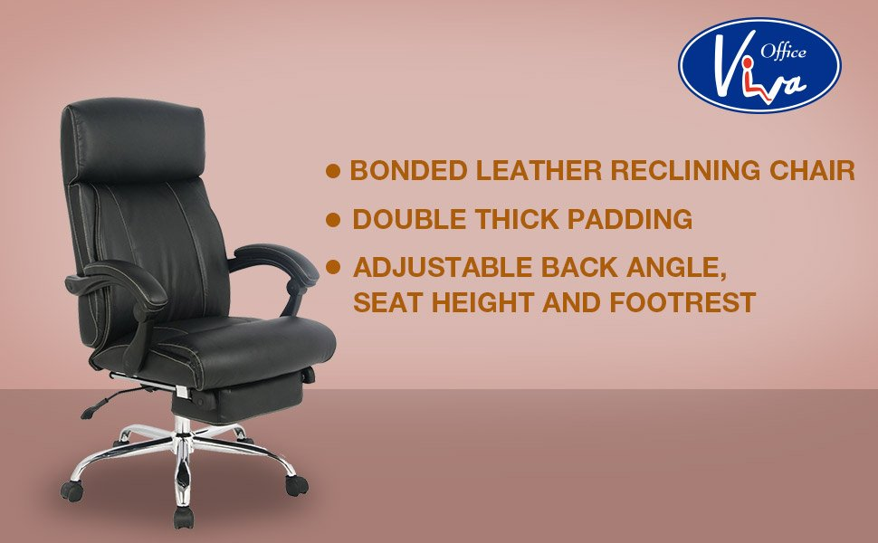 Fully Adjustable Office Chair - Amazon.com: VIVA OFFICE Reclining Office Chair, High Back Bonded