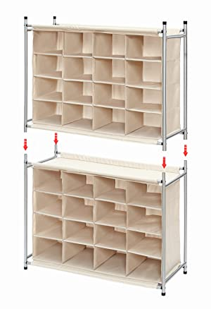 Amazon.com: StorageManiac 5-Tier 20-Pair Shoe Rack, 20-Compartment ...