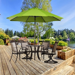 Amazon Com Abba Patio Feet Patio Umbrella Market Outdoor Table