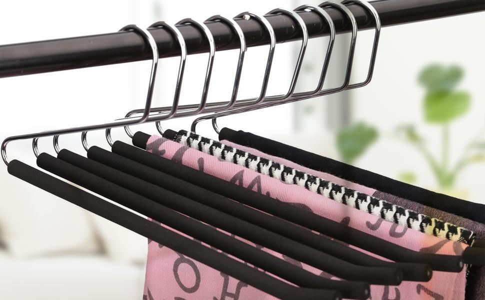 J.S. Hanger Open Ended Anti-rust Metal Slack Pant Hangers ...