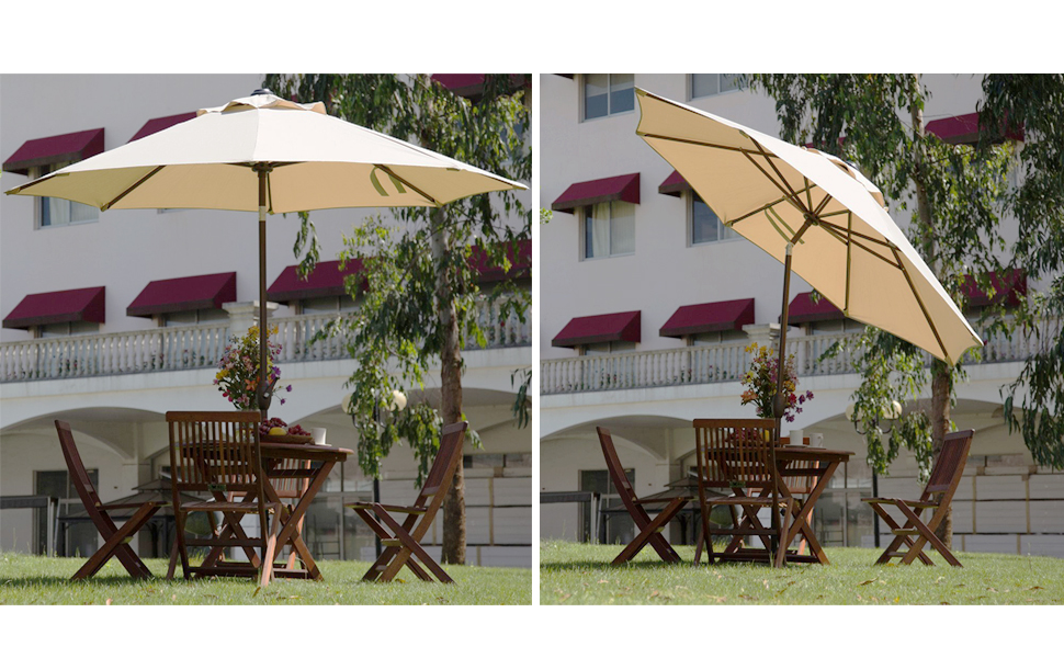 Amazon Com Abba Patio Feet Outdoor Market Umbrella With Push