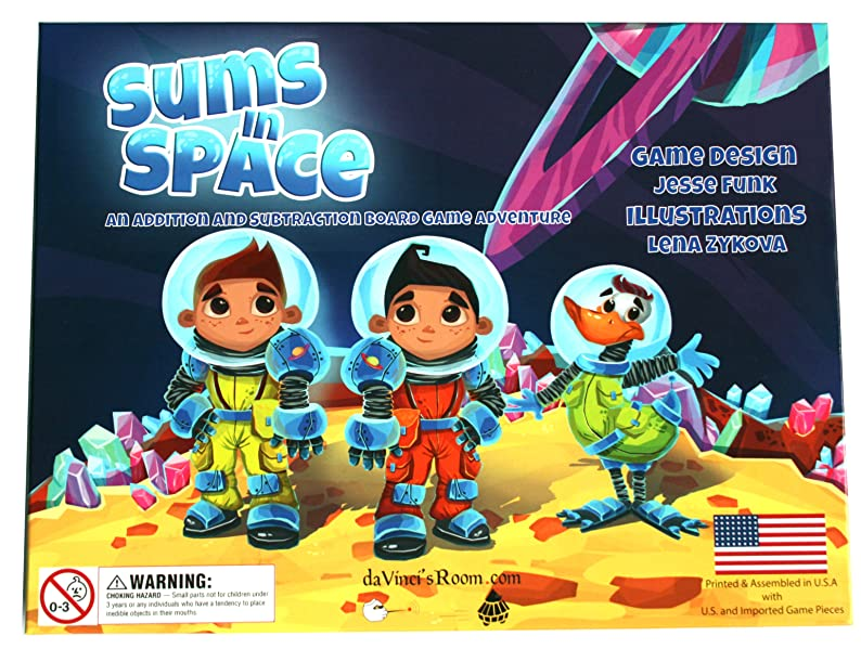 Amazon.com: Sums in Space - An Addition & Subtraction Math Game ...
