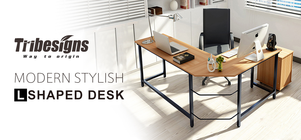 big office desk. tribesigns l shaped desk coner computer office for home sturdy u0026 big capacity up to 450lbs