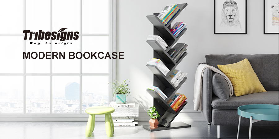 Tribesigns 9 Shelf Tree Shaped Bookcase Book Shelf   Simple Fashion,  Environment, Sturdy U0026 Large Capacity