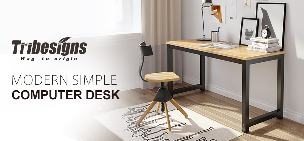 Sturdy Office Desk To Tribesigns 55 Computer Desk