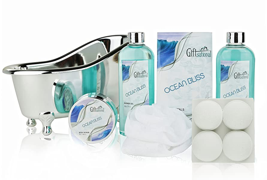 Amazon.com : Spa Gift Basket with Refreshing Ocean Bliss Fragrance ...