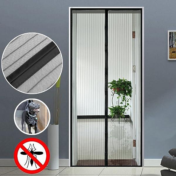 Homdox magnetic screen door full frame velcro premium for Retractable screen door magnets
