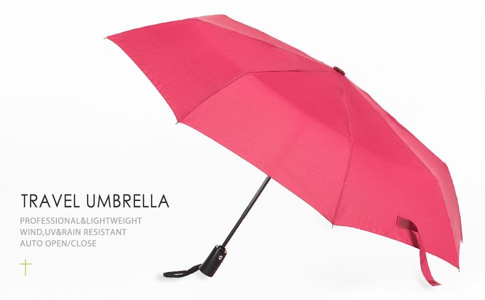 Oak Leaf Windproof Automatic Compact Rain Travel Umbrella ...