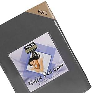 Amazon Com Bed Ruffle Skirt Twin White Brushed
