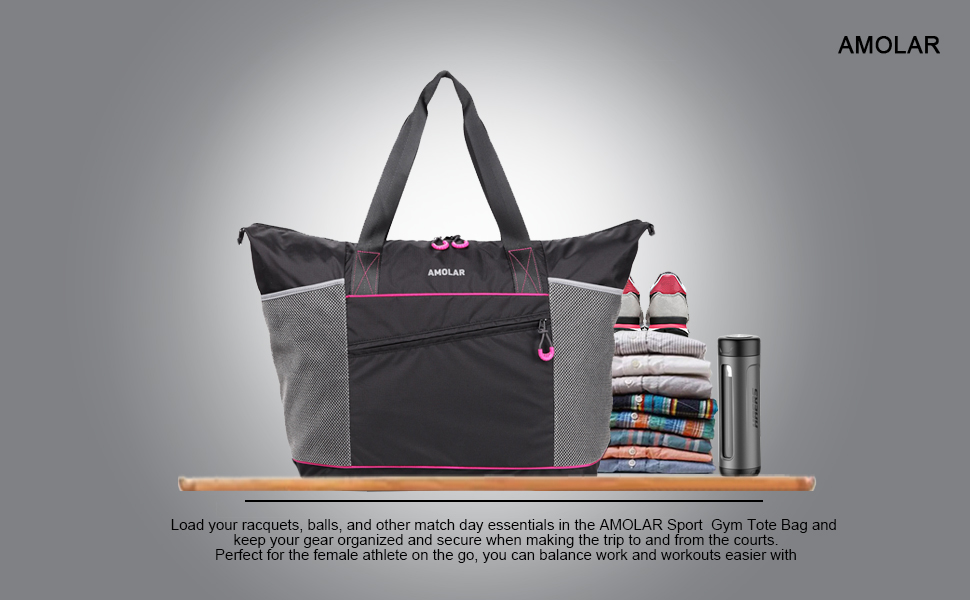 Amazon.com | Gym Tote Bag for Women with Roomy Pockets, Beach Tote ...