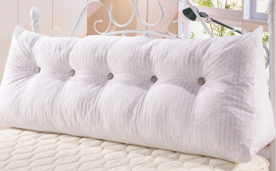 vclife cotton linen filled triangular wedge cushion bed backrest positioning support. Black Bedroom Furniture Sets. Home Design Ideas